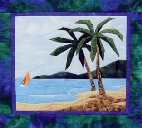 Palm Tree Quilts by Tropical Palm Tree Landscape Quilt Pattern Ebay