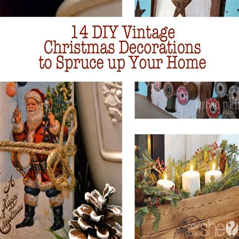 vintage diy home decor 14 diy vintage christmas decorations