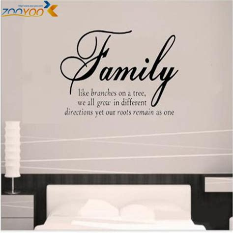 wall stickers family quotes family like branches home decor creative quote wall decals