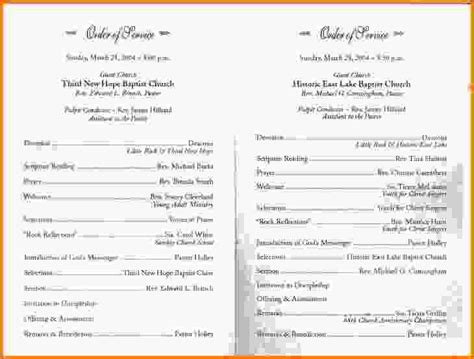 church anniversary program template church program templates simple wedding program jpeg