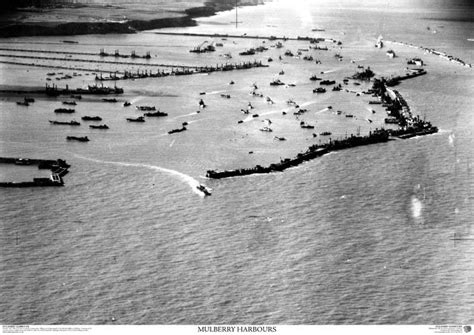 skyview dday mulberry harbour aerial photo northern france