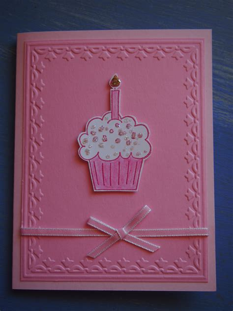 Pictures Of Handmade Birthday Cards - small striped bag with flower handmade 1st birthday card