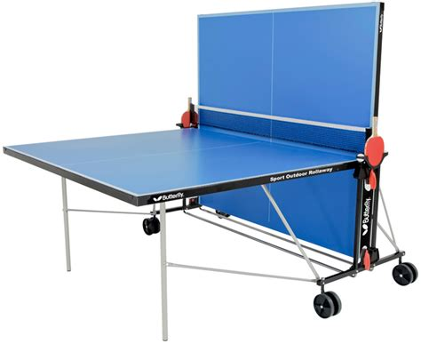 outside ping pong table butterfly sport rollaway outdoor ping pong table