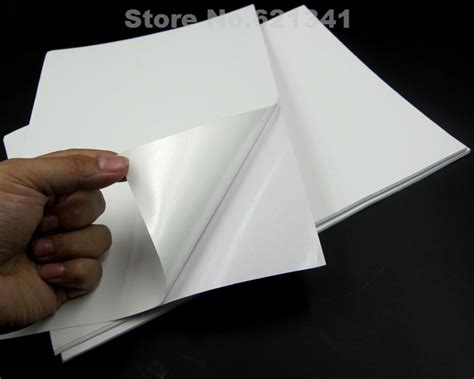 How To Make Glossy Paper - a4 pp synthetic paper self adhesive sticker paper printing