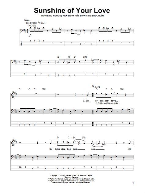 Sunshine Of Your Love Guitar Chords