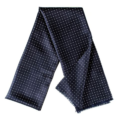 black co uk adelfia navy polka dot silk dress scarf in
