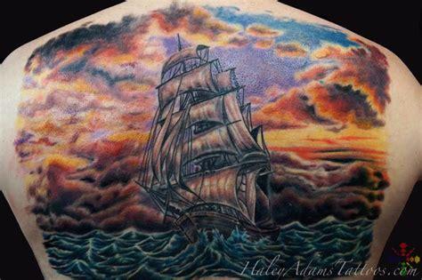 tattoo back piece cost haley adams tattoo tattoos realistic sailing ship