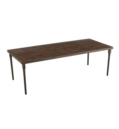 hton bay lemon grove rectangle outdoor dining table