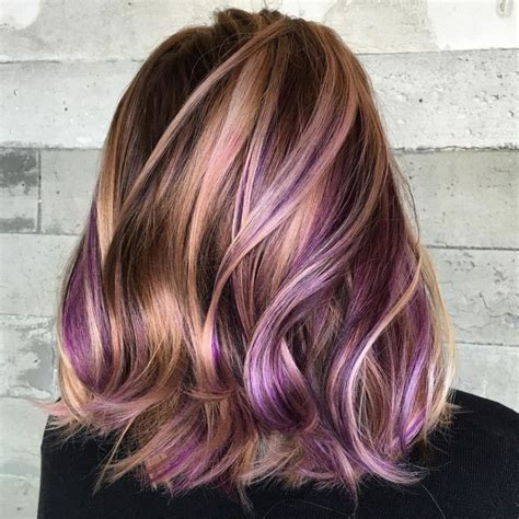 hair color pictures blonde purple lowlights latest ideas for brown hair with red and blonde highlights