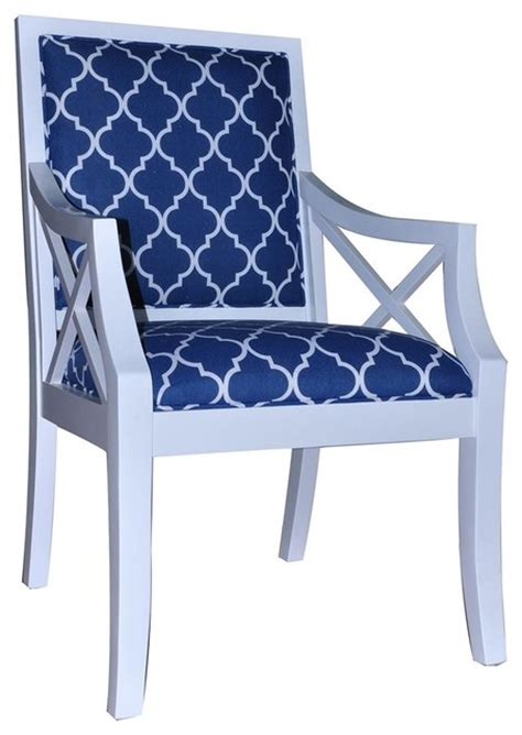 Blue And White Accent Chair Atlantic Blue And White Accent Chair Modern Armchairs And Accent Chairs By Yolo Interiors