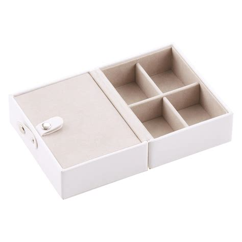white folding travel jewelry storage tray the container
