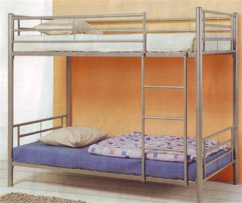 kids bunk bed twin kid frame contemporary silver metal