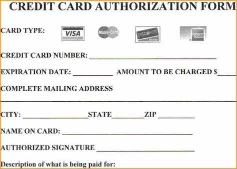 Search Doc Templates Credit Card by Looking To Credit Card Authorization Form Then