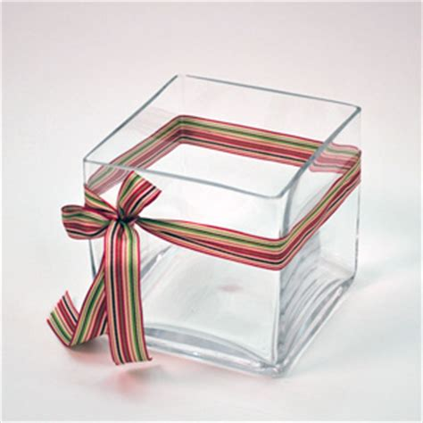 5 Inch Square Glass Vases by 5 Quot Clear Glass Square Vase Walmart