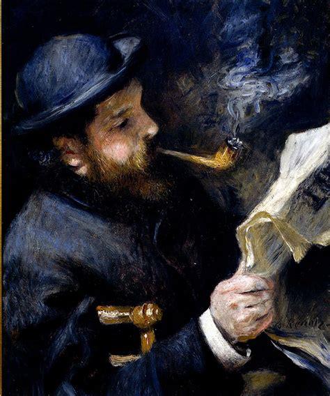libro renoir basic art album pierre auguste renoir 1841 1919 claude monet reading a newspaper oil on canvas 1872 private