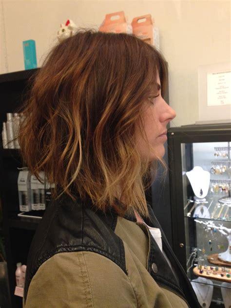 a line haircut ombre color andrea miller lefevre hair the lab a salon balayage