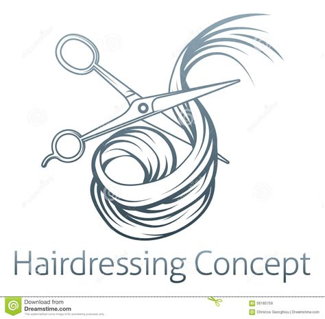 Hairstyle Tools Designs For Silhouette Cutting by Hairdressers Scissors Cutting Hair Stock Vector Image