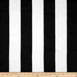 White Cotton Upholstery Fabric Premier Prints Vertical Stripe Black White Discount