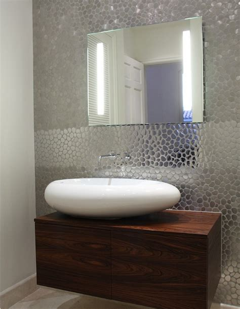 funky wall covering guest bathroom biz ideas pinterest