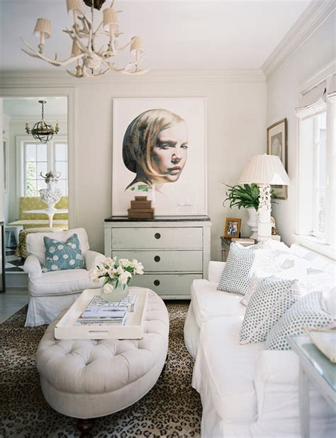 White Beige Living Room by How To Add Bold To A Room Interiors B A S