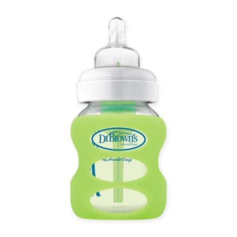 Dr Browns Options Wide Neck Bottle 150 Ml dr brown s 150ml pp options wide neck glass bottle sleeve light green