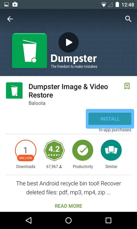 dumpster recycle bin apk how to the dumpster recycle bin for android apk s tricks zeal