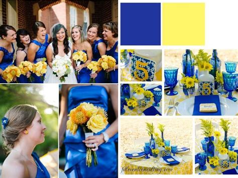 inspirations for blue and yellow wedding colors yellow