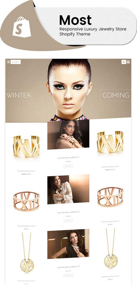 shopify themes luxury most responsive luxury jewelry store shopify theme long