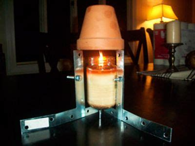 How To Make A Room Warmer by Candle Heater Permaculture Tech