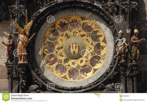 Astronomical Calendar Orloj Astronomical Calendar Royalty Free Stock