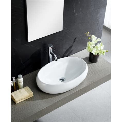 Bathroom Sink Modern by Fixtures Modern Vitreous China Bulging Oval Vessel