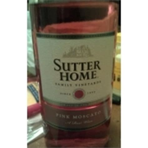 sutter home pink moscato wine calories nutrition