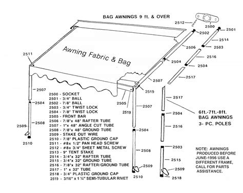 a e awning parts diagram awning zip dee awning parts