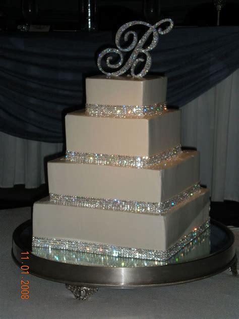 bling wedding cake cakecentral