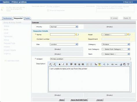 Request Template Help Desk Html Template