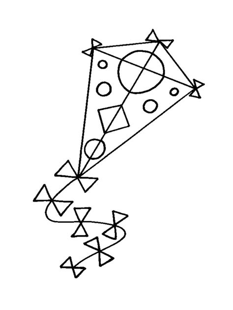 free printable coloring page of a kite free printable kite coloring pages for kids