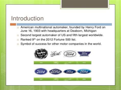 William And Mba Vs by Mba 592 Ford Vs General Motor S Master S Thesis Power Point