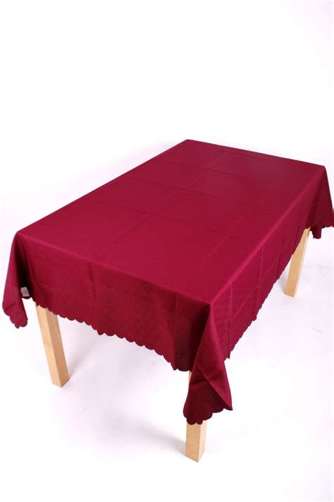 shell tablecloth burgundy 178x320cm 70x126 quot oblong