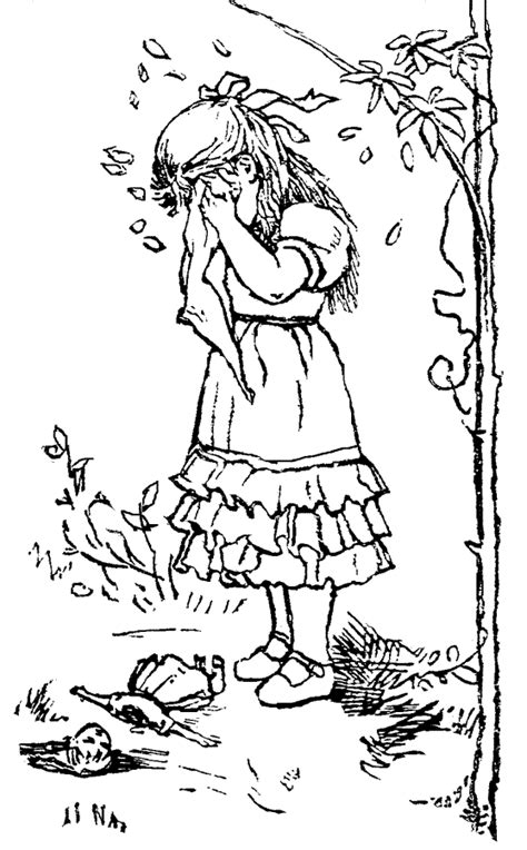 coloring page of sad girl sad little girl coloring pages