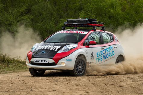 Car Modification For Rally by Modified Nissan Leaf Will Compete In 10 000 Mile