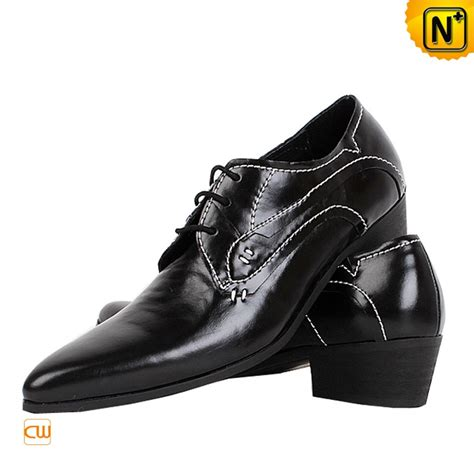 dress shoes black mens black leather lace up oxford dress shoes cw760070