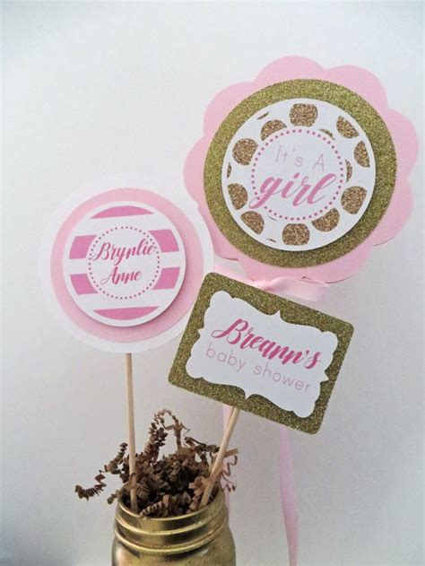 pink and gold baby shower table decorations pink and gold baby shower table centerpiece