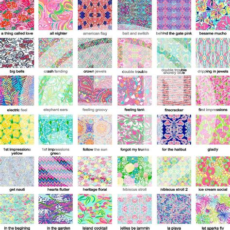 ui pattern names lilly pulitzer pattern vinyl indoor outdoor glitter heat