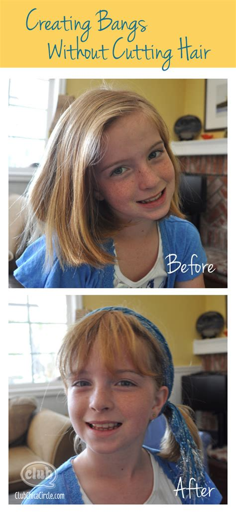 how to get a look with bangs without cutting your hair how to create bangs without cutting hair