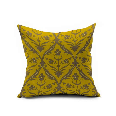 Yellow Vintage Floral Pillows Morocco Accent Pillow Covers Yellow Sofa Pillows