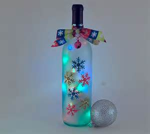 Battery Operated Wall Sconce Lights Wine Bottle Light Snowflakes Turquoise Lime Green Pink