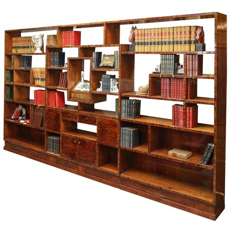 Bookshelf Room Divider Deco Bookcase Room Divider At 1stdibs