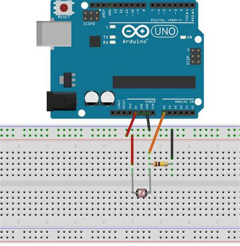 sensing resistor project using an ldr sensor with arduino a tutorial for beginners diyhacking