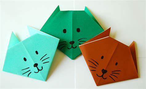 Paper Folding Cat - make an origami cat bookworm