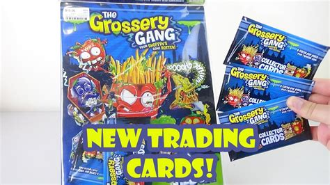 Gift Card Collectors - grossery gang collector cards pack opening album new birdpoo reviews youtube